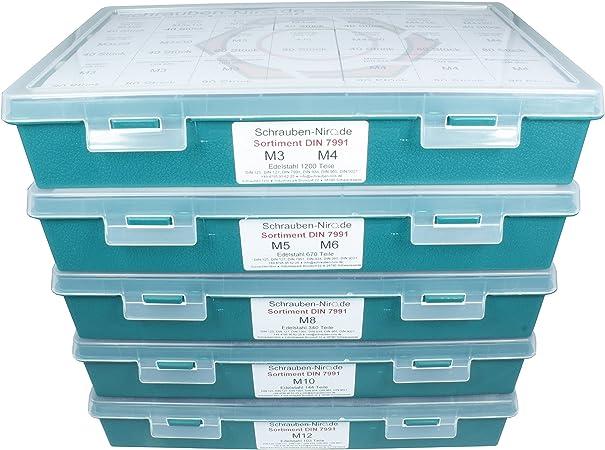 Senkkopfschrauben DIN 7991 Innensechskant M5 Edelstahl 420 Teile Sortiment
