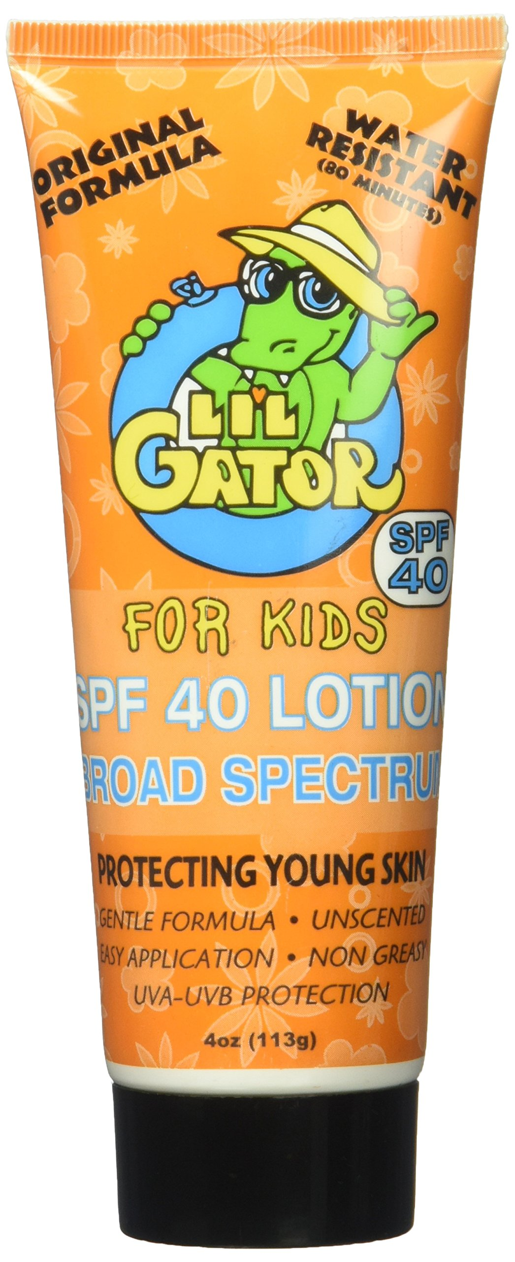 Aloe Gator Lil' SPF 40 Lotion for Kids (4-Ounce) by Aloe Gator