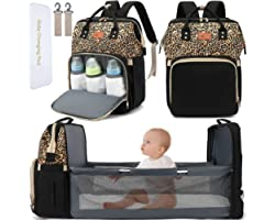DEBUG Baby Diaper Bag Backpack with Changing Station Diaper Bags for Baby Bags for Boys Girl Diper Bag with Bassinet Pad Men