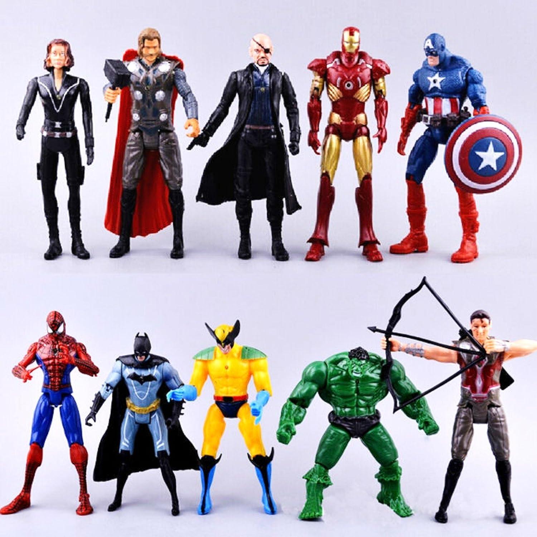Spiderman Ironman Captain America Marvel Avengers Superhero Action Figures Toys