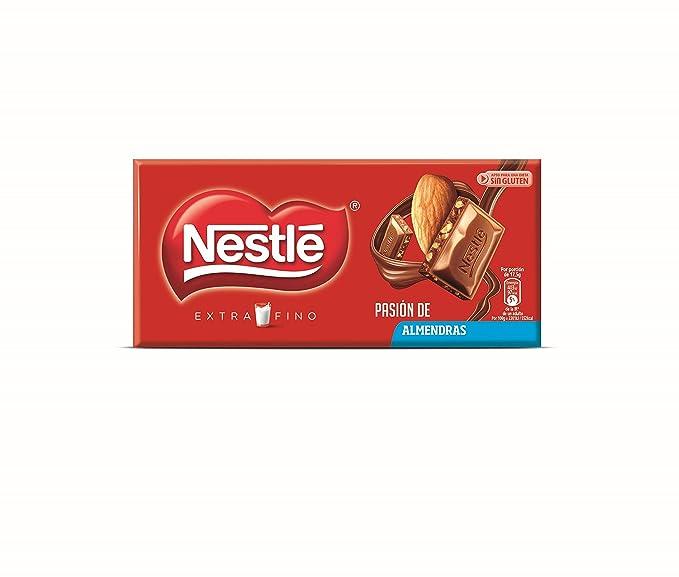 Nestlé Extrafino - Tableta de Chocolate con Leche y Almendras - 7 Paquetes de 123 g