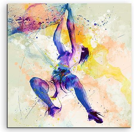 Escalada I 60 x 60 cm – cuadro Sport de acuarela bonitos colores de Paul Sinus