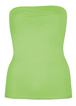 5be4564458 Womens Boob Tubes Strapless Tops Bandeau Sun Tops Summer Vests Stretch Inner  Support Holiday Beachwear: Amazon.co.uk: Clothing