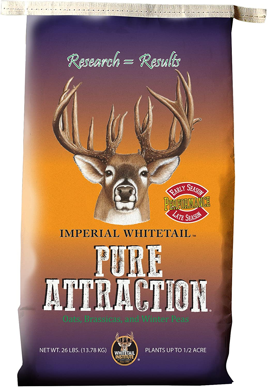 Whitetail Institute Imperial Pure Attraction Food Plot Seed (Fall Planting), 26-Pound (.5 Acre)