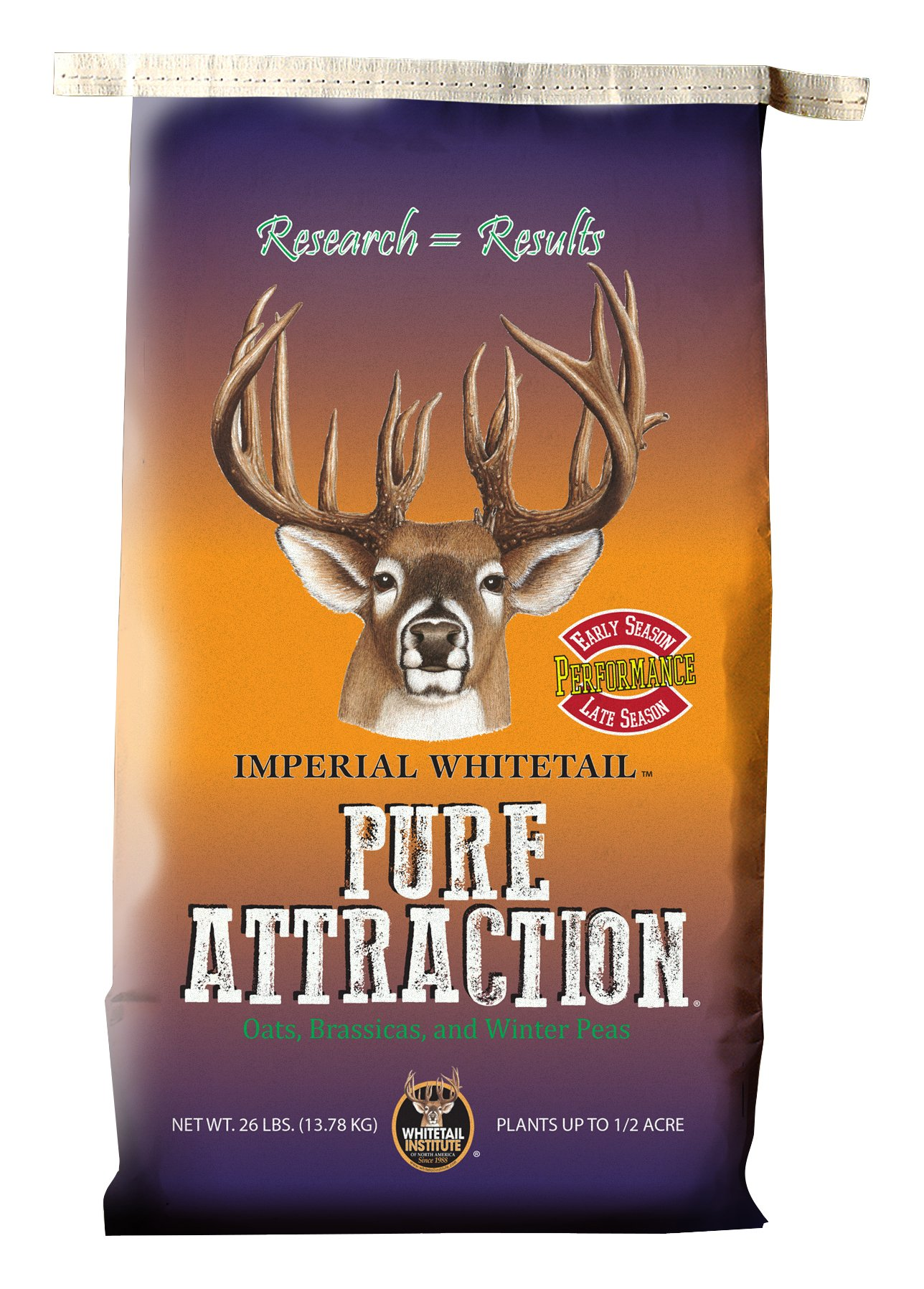 Whitetail Institute Imperial Pure Attraction Food Plot Seed (Fall Planting), 26-Pound (.5 Acre) by Whitetail Institute