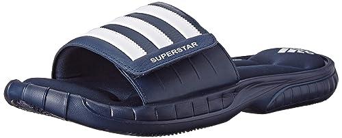 promo code 23380 7100d Adidas Performance Superstar 3G sandalias para hombre, azul marino blanco  blanco (Collegiate