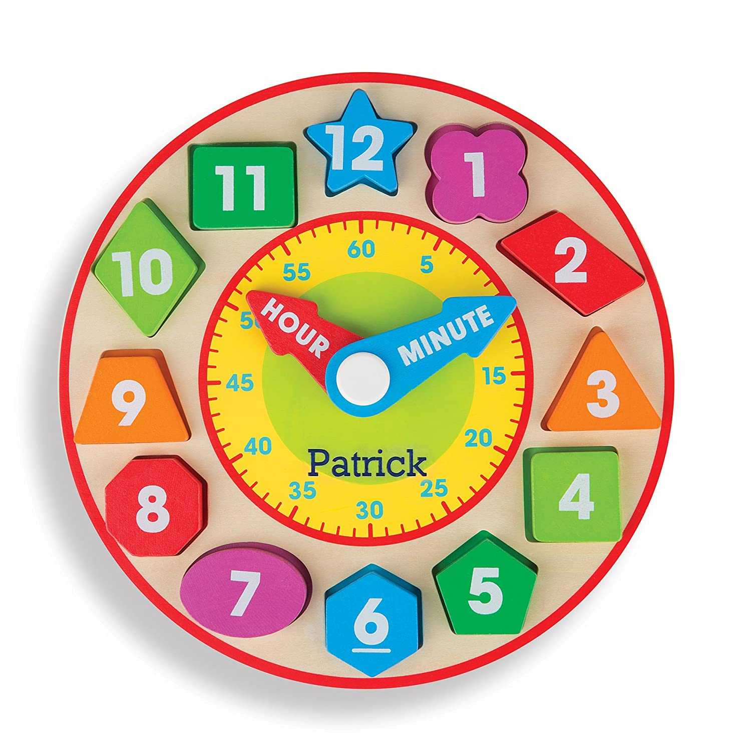 Melissa & Doug Shape Sorting Clock - Wooden Educational Toy 8593