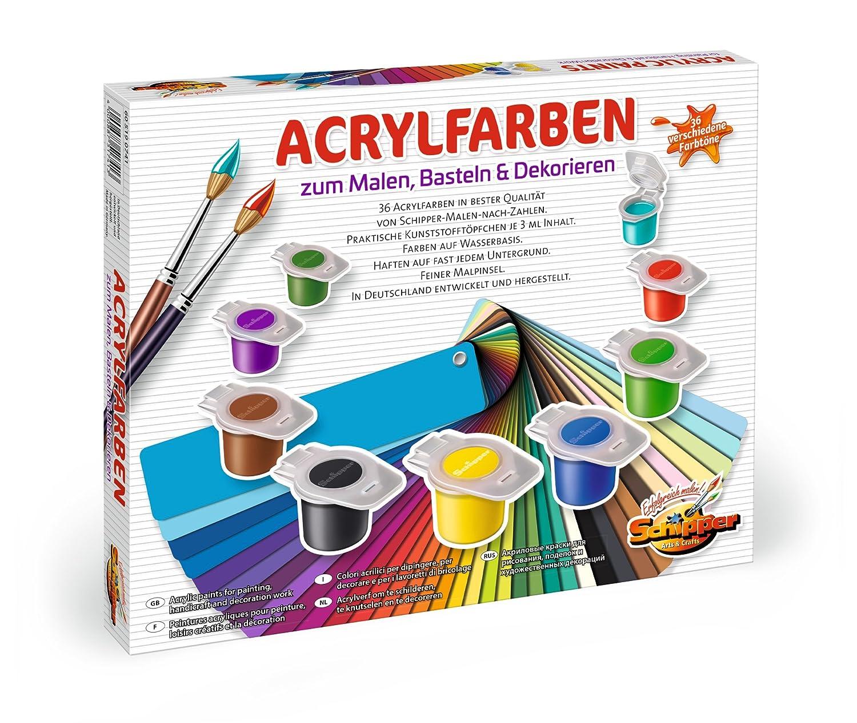 Schipper 605190741 Malen Nach Zahlen Acrylfarben Set Mit 36 Farben