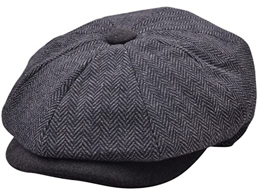 281933ea MAZ Mens 2 Tone Baker Boy Cap Peaked newsboy Hat Peaky Blinders Hat Flat  Cap Grey (61 cm): Amazon.co.uk: Clothing