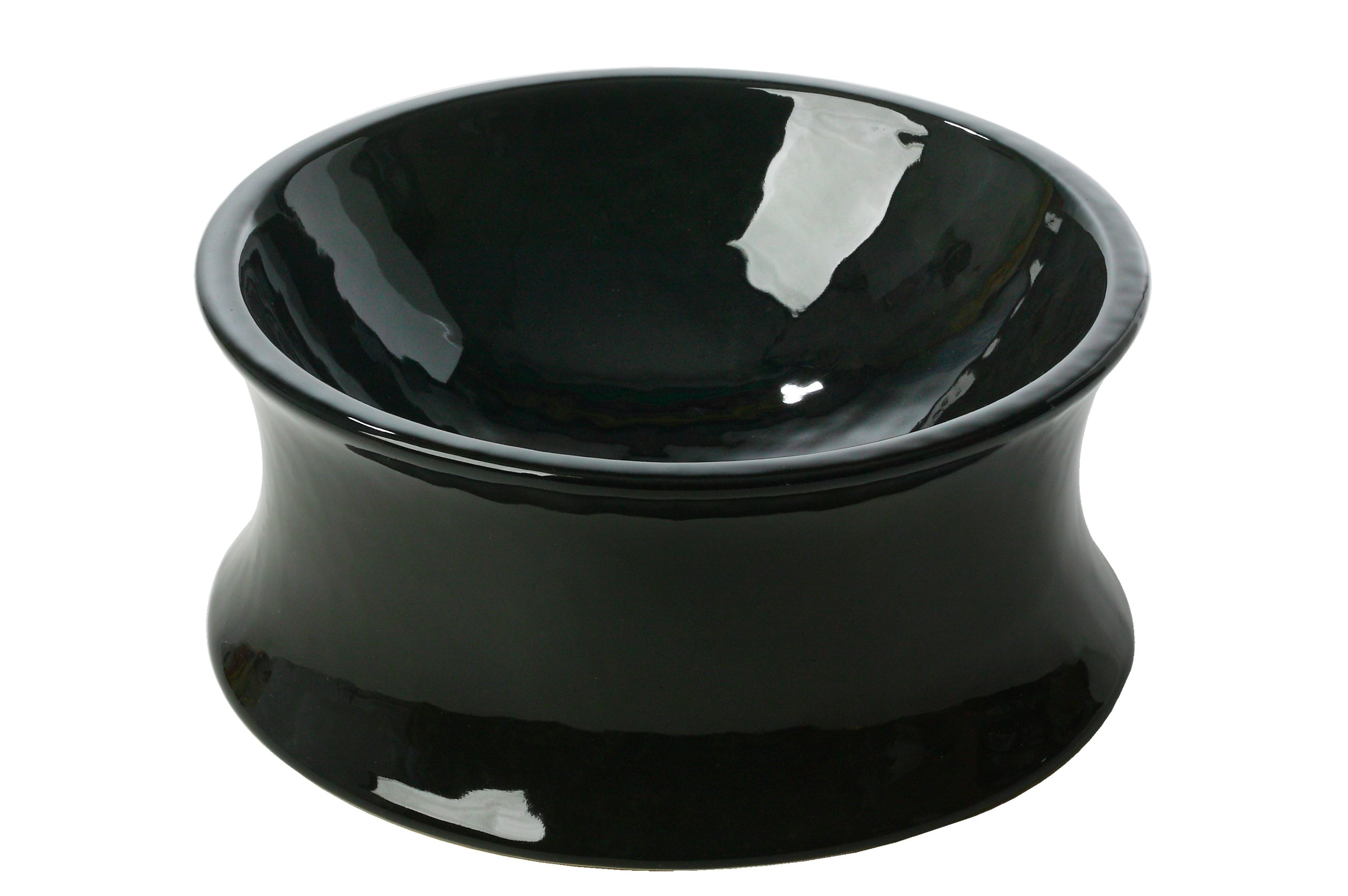 One for Pets The Kurve Raised Pet Bowl, Large, Black