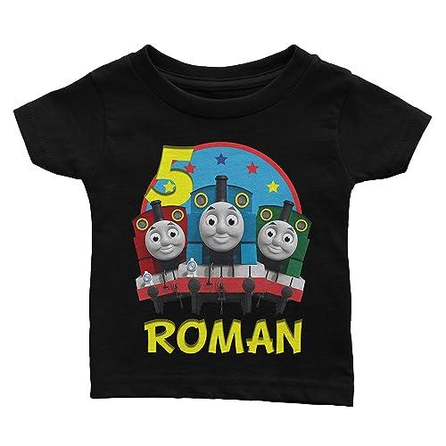 Amazon Personalize Thomas The Train Birthday Shirt Handmade