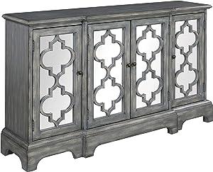 Coaster Home Furnishings 4-Door Antique Grey Accent Cabinet