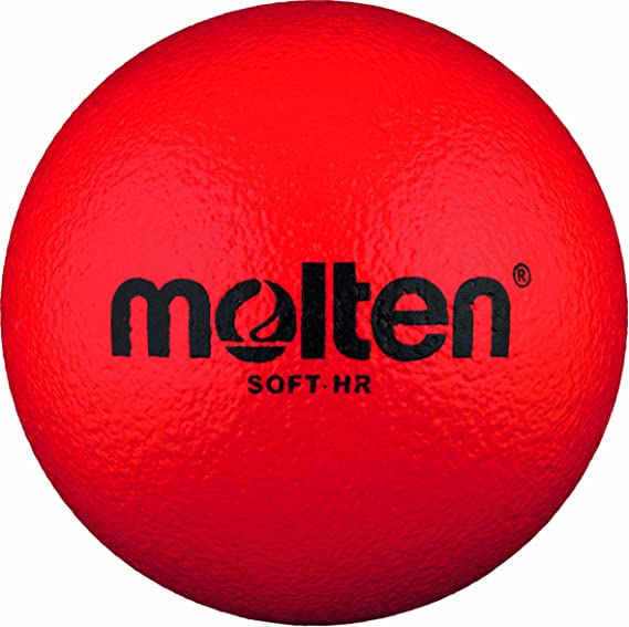 Molten Soft-HR - Pelota Blanda de Balonmano (160 mm), Color Rojo