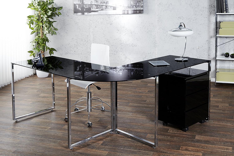 Dunorddesign Esquina Escritorio Negro Cristal Office Diseño ...