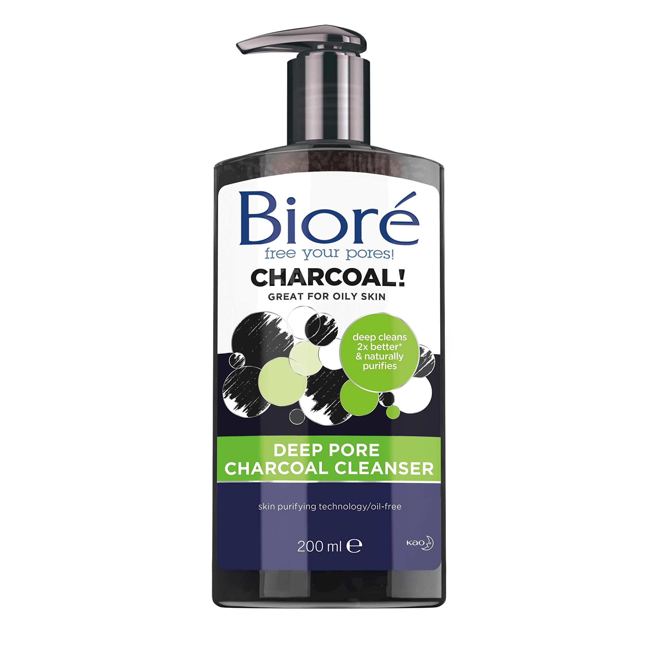 Bioré Deep Pore Charcoal Cleanser for Oily Skin, 6.77oz