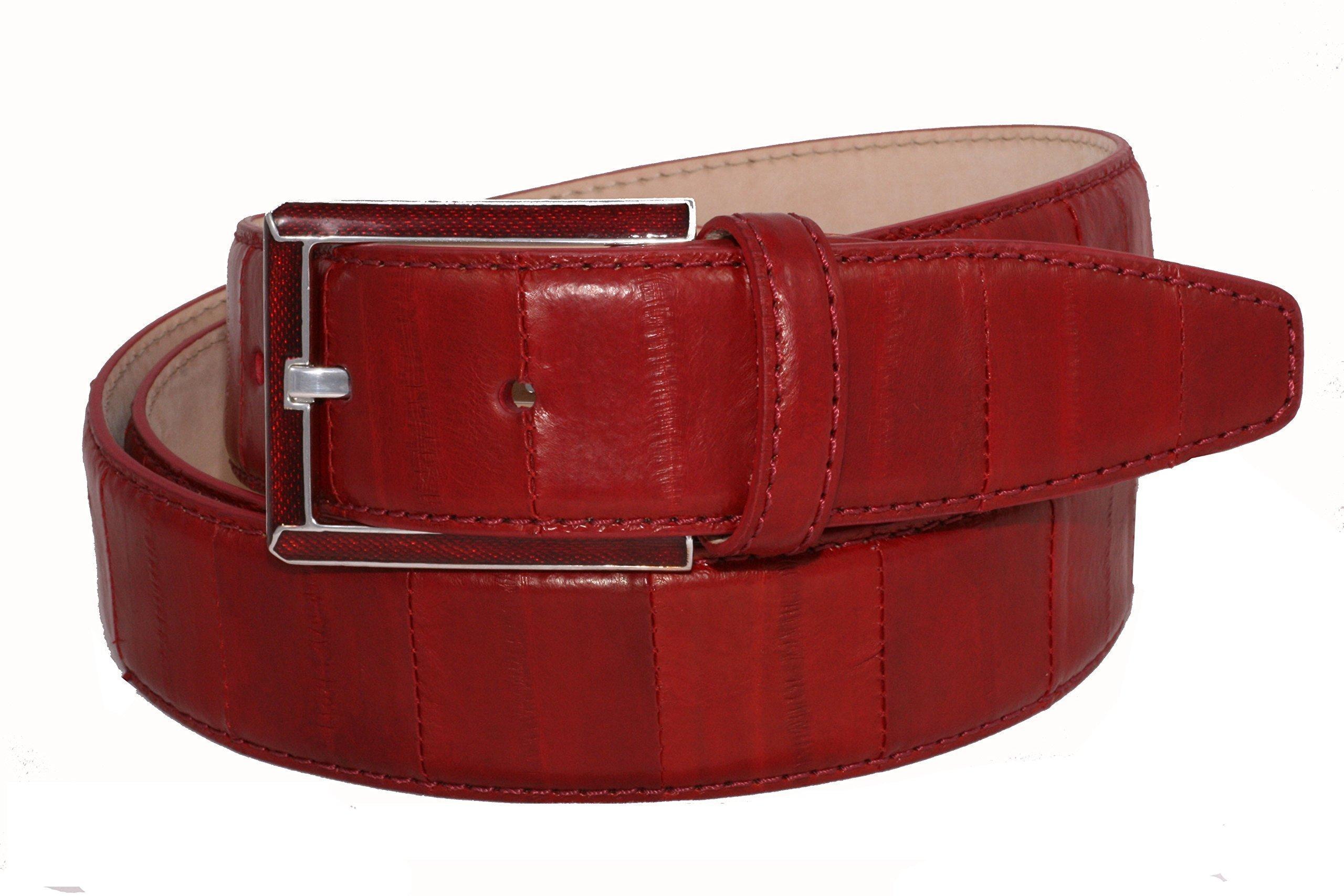 Urso Belt buckle in Sterling silver and Eel Skin