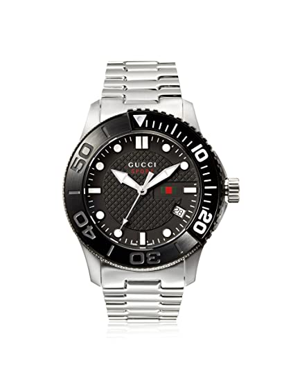 2bdd52c5b82 Gucci Ya126249 Men s G-Timeless Stainless Steel Black Dial Watch   Amazon.ca  Watches