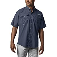 ab1d5ca54e Columbia Men's PFG Bahama II Short Sleeve Shirt, Breathable with UV  Protection