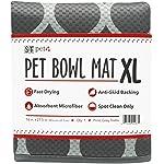 """S&T Pet 528701 Pet Bowl Mat XL - 16"""" x 27.5"""" - Grey Trellis"""