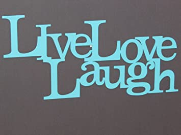 Live Laugh Love Wood Word Art Sign Wall Decor Aqua Color