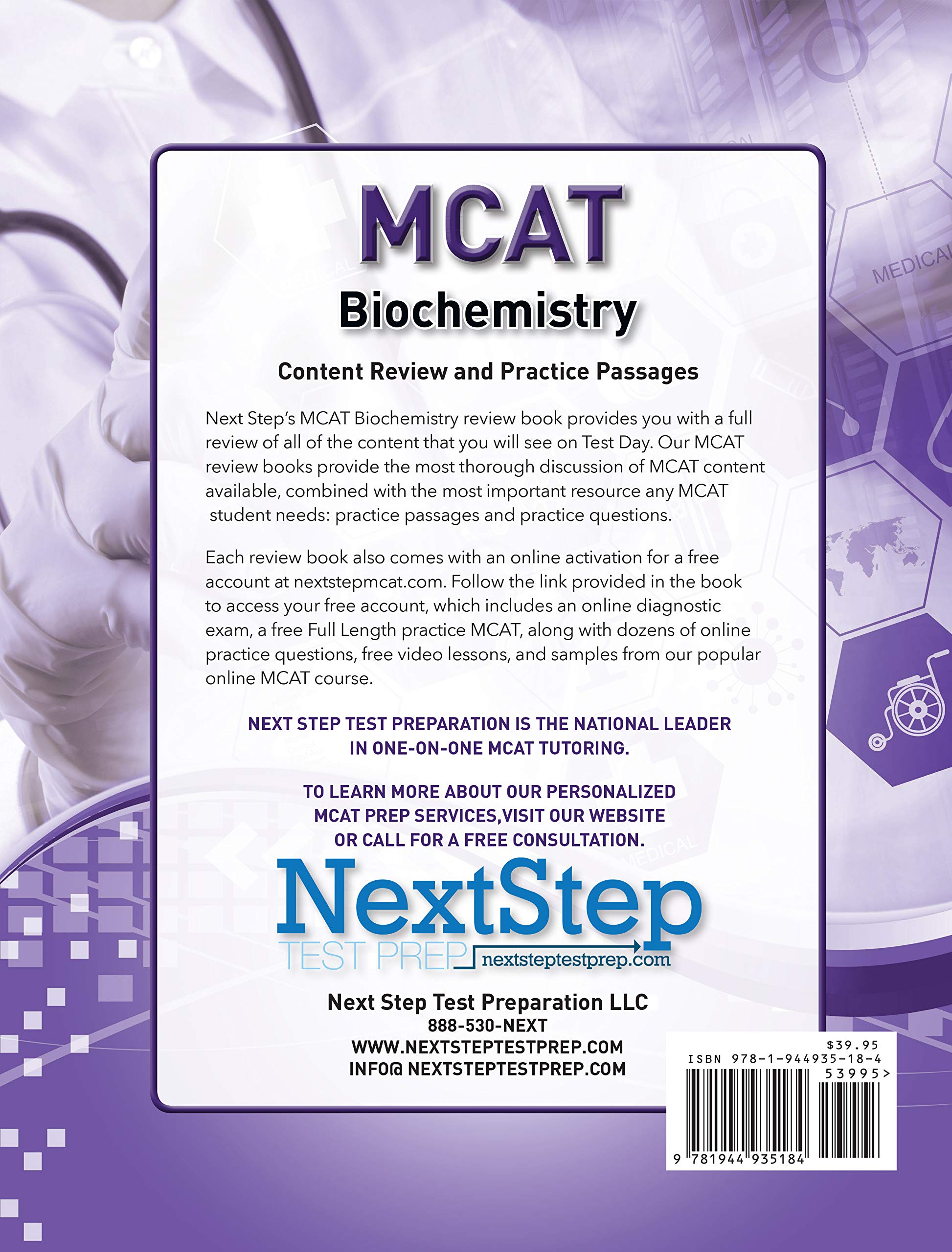 MCAT Biochemistry: Content Review and Practice Passages: Next Step