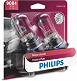 Philips 9004 VisionPlus Upgrade Headlight Bulb, Pack of 2