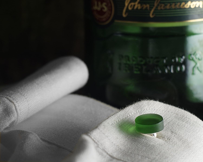 Irish Whiskey Cufflinks from Recycled Jameson Bottle