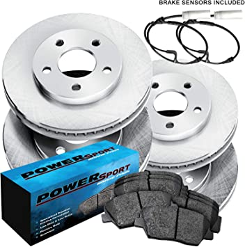 Fit 2006 BMW 330xi Front Rear PSport Drill Slot Brake Rotors+Ceramic Brake Pads