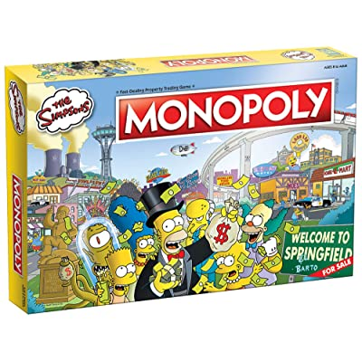 Monopoly The Simpsons Board Game | Based on Fox Series The Simpsons | Collectible Simpsons Merchandise | Themed Classic Monopoly Game: Toys & Games