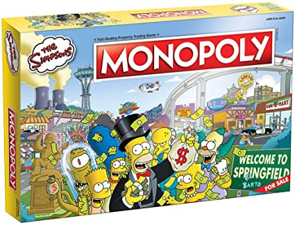 Amazon Com Monopoly The Simpsons Board Game Based On Fox Series