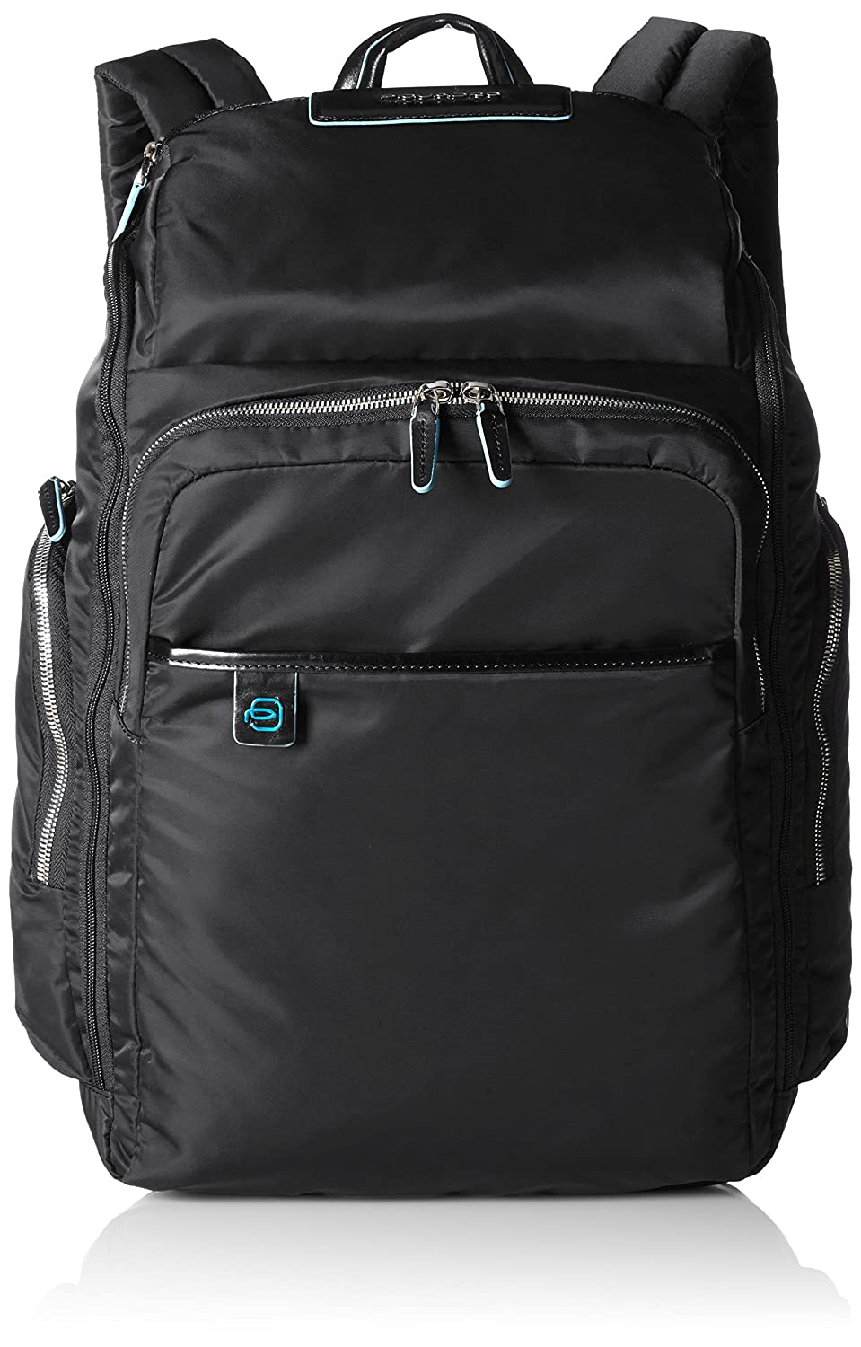 PIQUADRO Backpack CELION Male leather and fabric Black - CA3826CE-N B01BG4DFX2