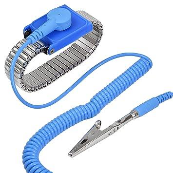 MENGS® Metall Anti Statik Armband mit Erdungskabel: Amazon.de ...