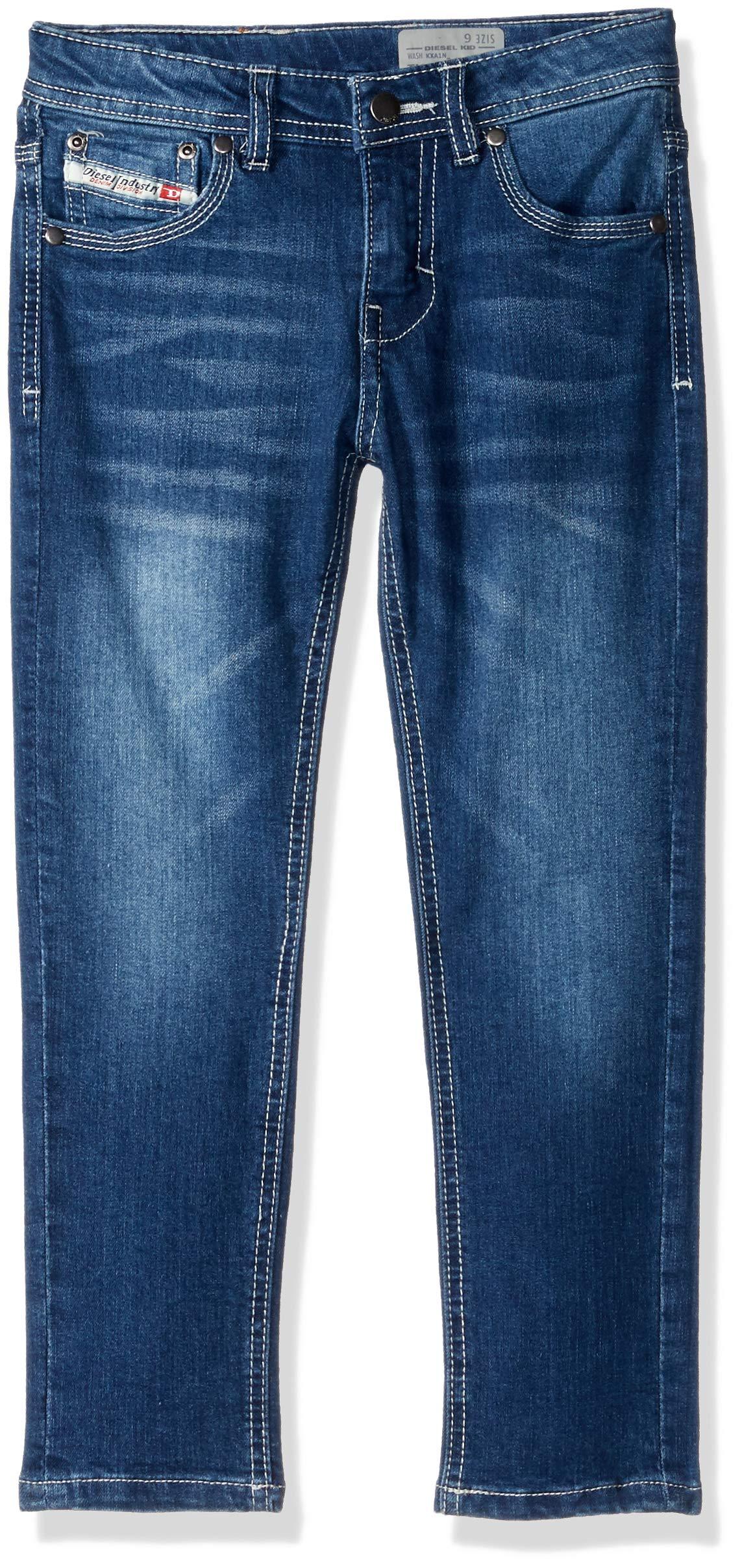 Diesel Boys' Big Essential Denim Jean, Medium Indigo, 14