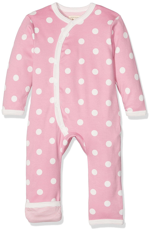 Pigeon-organics For Kids Romper Suit Long, Polka Dot Design, Pink, 6-12 Months OFK-ROL SPOPIN 6-12M