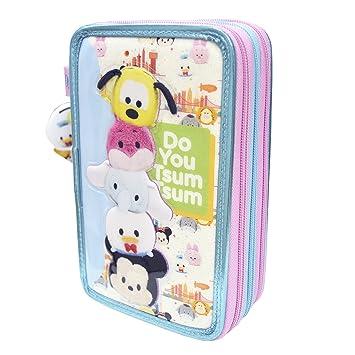 Tsum Tsum - Estuche de 3 Pisos Deluxe con volúmen (CIFE 40570)