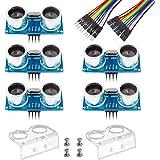 Smraza 5pcs Ultrasonic Module HC-SR04 Distance Sensor with 2pcs Mounting Bracket for Arduino R3 MEGA Mega2560 Duemilanove Nan