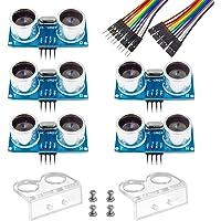 Smraza 5pcs Ultrasonic Module HC-SR04 Distance Sensor with 2pcs Cartoon Mounting Bracket for Arduino UNO Mega R3 Mega2560 Duemilanove Nano Robot XBee ZigBee