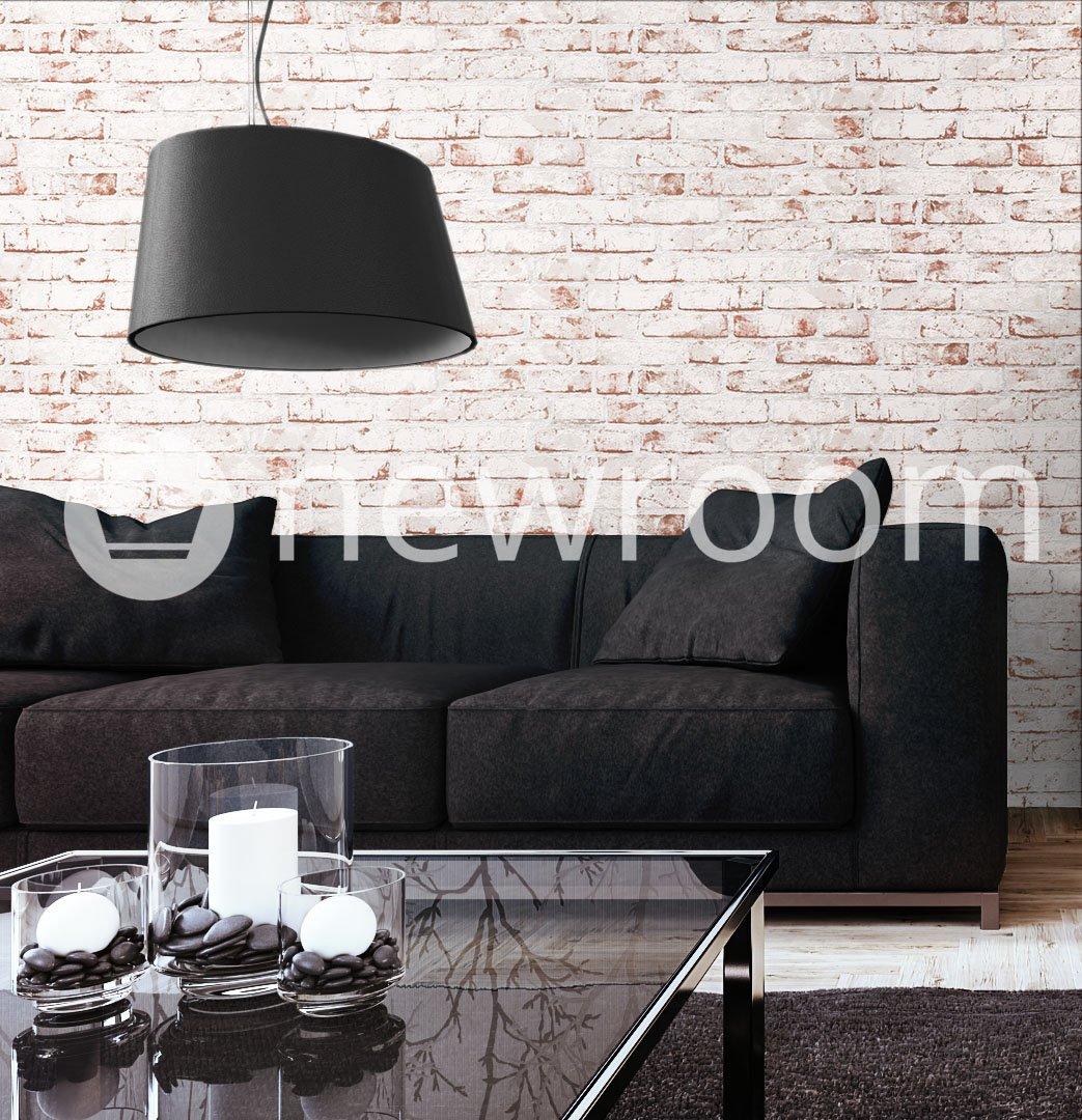 Steintapete Vlies Weiß Rot Edel, 3D Optik für Wohnzimmer ...