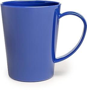 Carlisle 4306814 Break-Resistant Tritan Coffee Mug, 12 oz, Ocean Blue