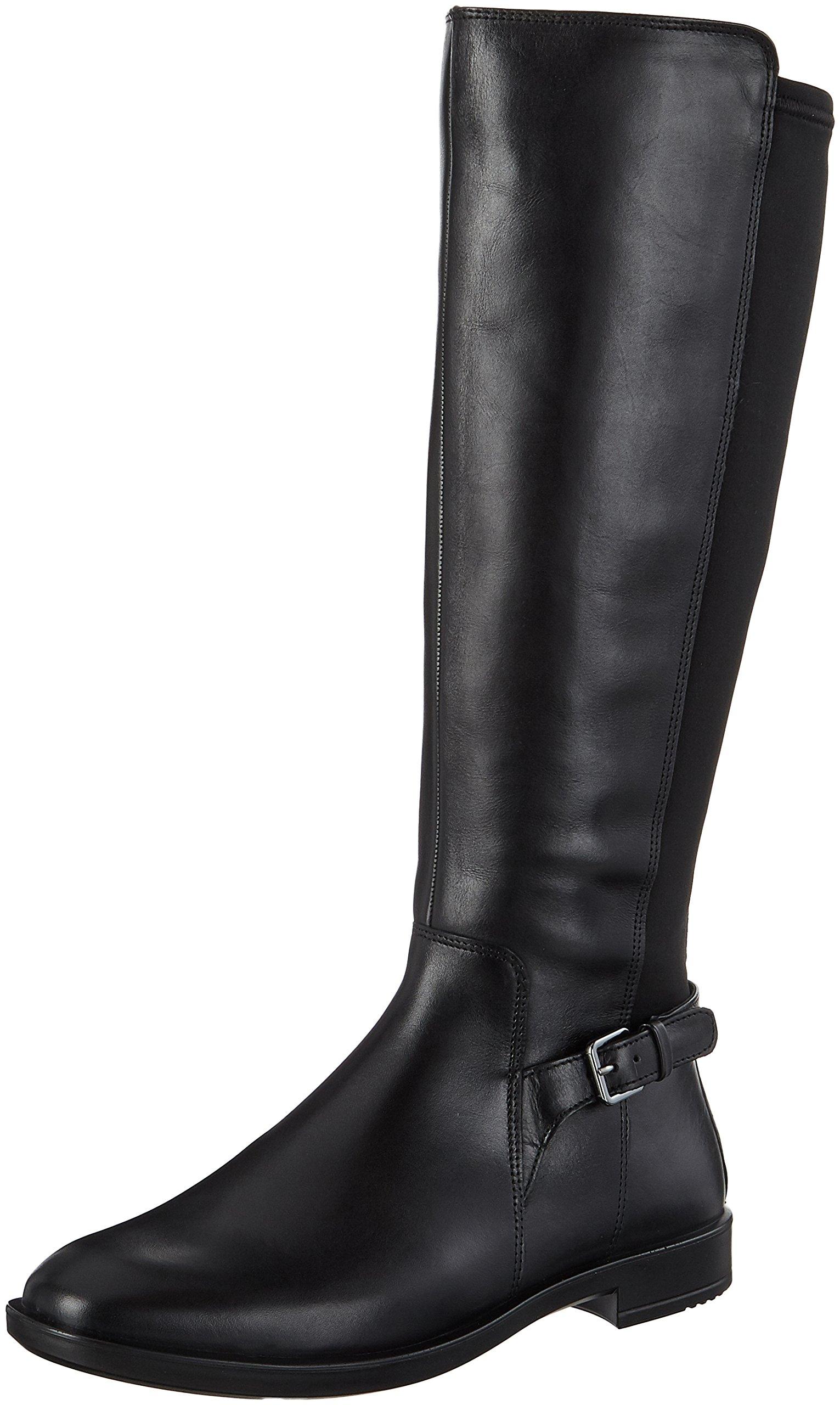 ECCO Women's Women's Shape M 15 Tall Riding Boot, Black/Black, 39 EU / 8-8.5 US