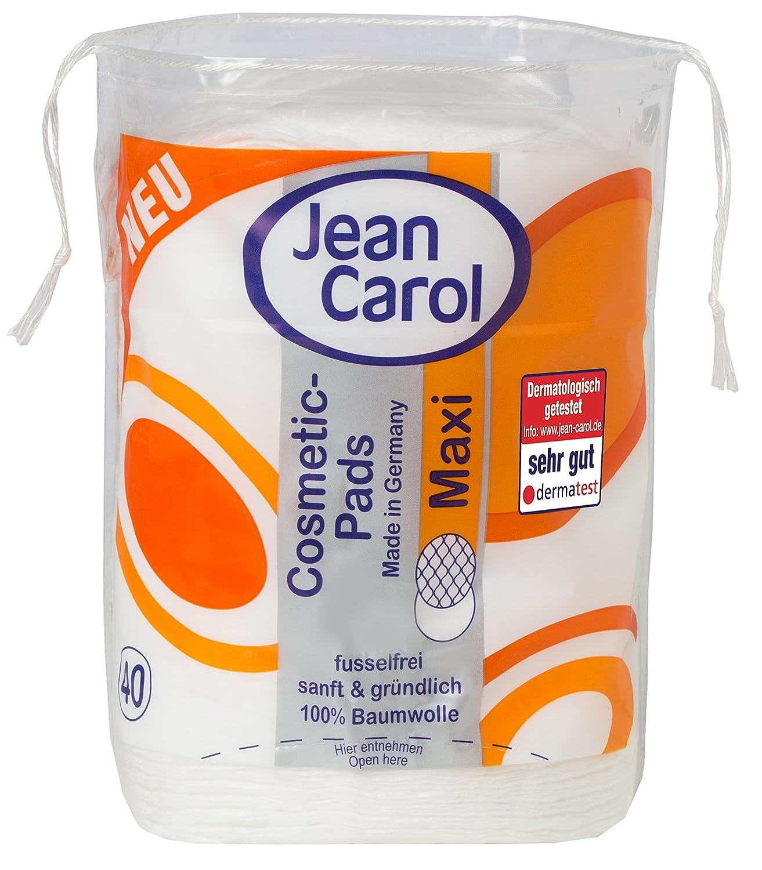 Jean Carol - Dischetti Duo Natural Care, dimensione maxi, forma ovale, confezione da 40 pezzi, pacco da 10 confezioni 2226