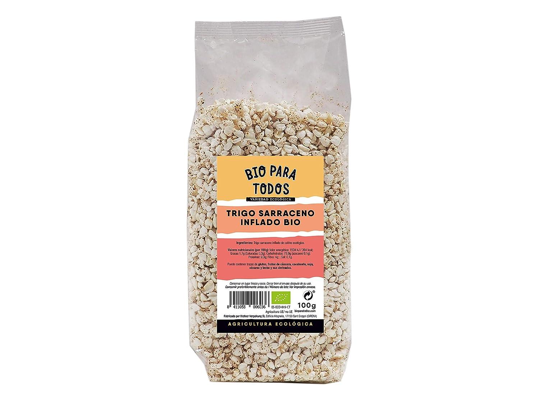 Bio para todos Trigo Sarraceno Hinchado Bio - 12 Paquetes de 125 gr - Total: 1500 gr: Amazon.es: Alimentación y bebidas