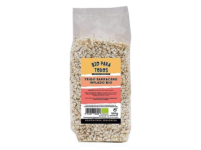 Bio para todos Trigo Sarraceno Hinchado Bio - 12 Paquetes de 125 gr - Total: