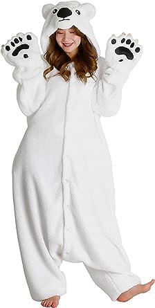 Disfraz de oso polar Kigurumi: Amazon.es: Ropa y accesorios