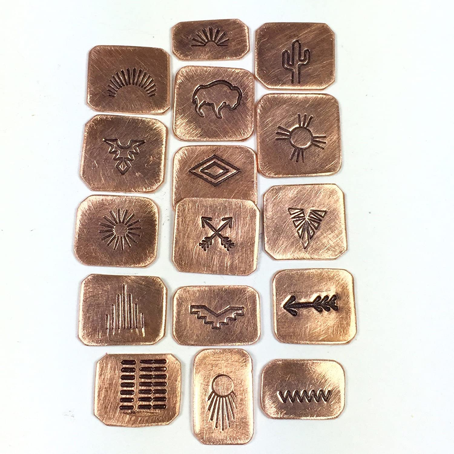 Native Silver Tribal Designs Southwest Stamps Native Tribe Designs,Native Designs Native American Large Steel Stamps 3//8 Tool Shank