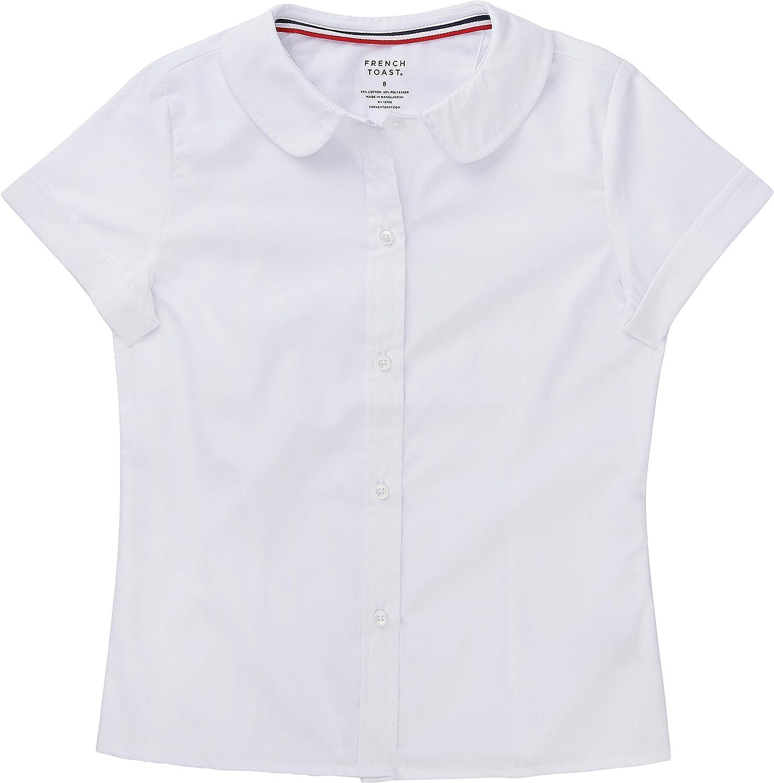 French Toast School Uniform Girls Short Sleeve Modern Peter Pan Blouse: Clothing