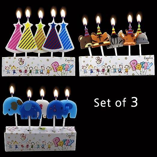 AFeel Tarta de cumpleaños Velas Unidades Cupcake de Animales ...