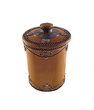 Marokkanische Zuckerdose Keramik Marrakesch-M-Gelb