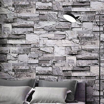 Blackpoolal 10m Slate Grey Brick Wallpaper Wallpaper Rolls