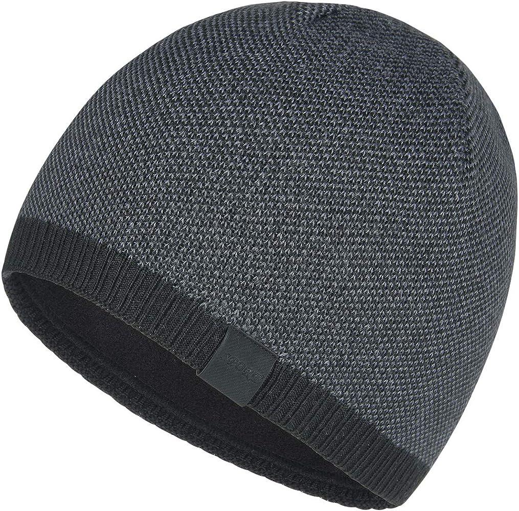 50feebbf828b4c OMECHY Winter Knit Warm Hat Daily Thick Stretch Plain Beanie Ski Skull Cap  with Fleece Lining